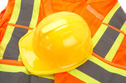 hard hat and jacket